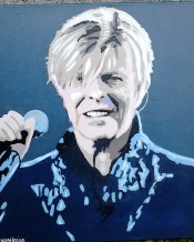 David Bowie. Acrylic on bulky canvas size 18 x 24 inches