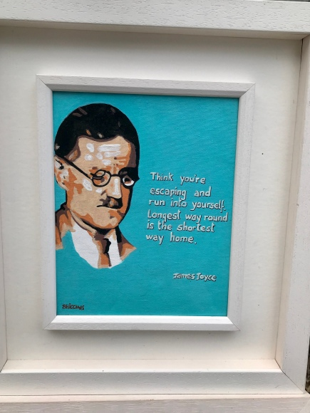James Joyce with Quote